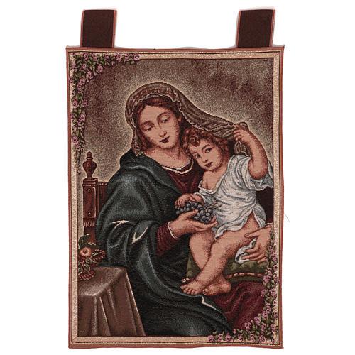 Arazzo Madonna dell'Uva 50x40 cm 1