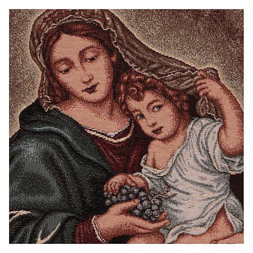 Arazzo Madonna dell'Uva 50x40 cm 2