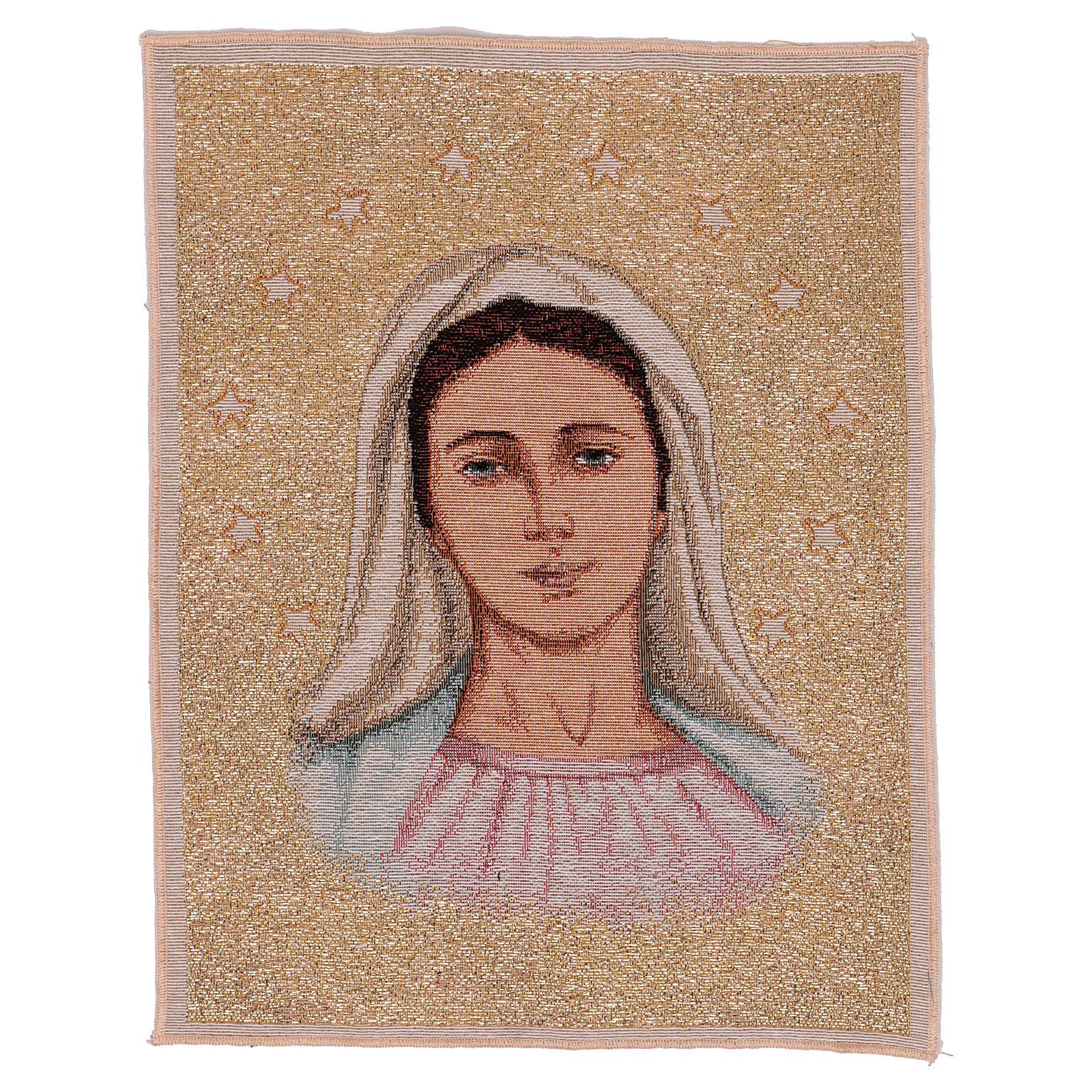 Wandteppich Muttergottes von Medjugorje mit Sternen 40x30 cm 3