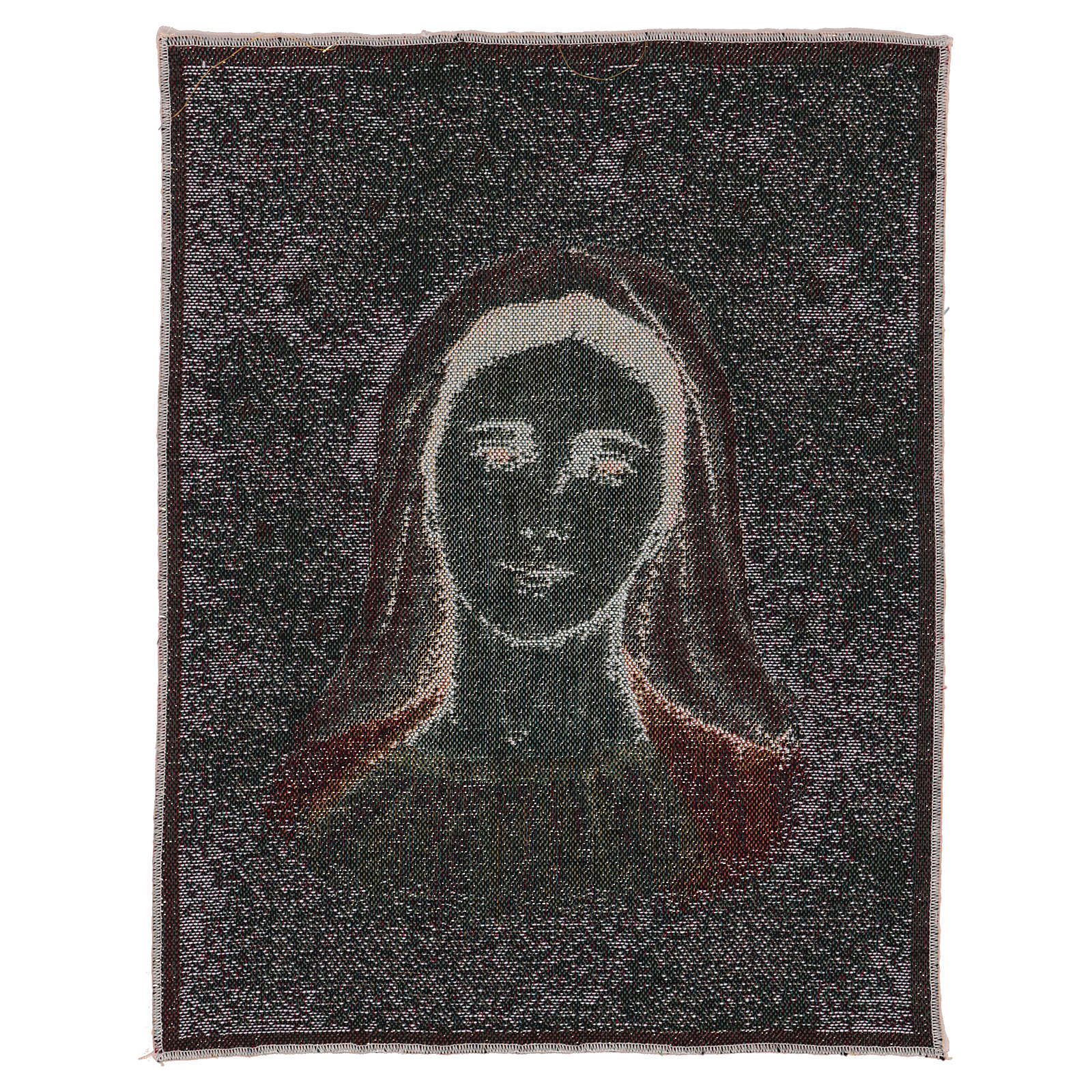 Our Lady of Medjugorje with stars tapestry 40x30 cm 3