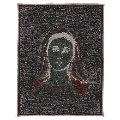 Tapisserie Notre-Dame de Medjugorje avec étoiles 40x30 cm 3