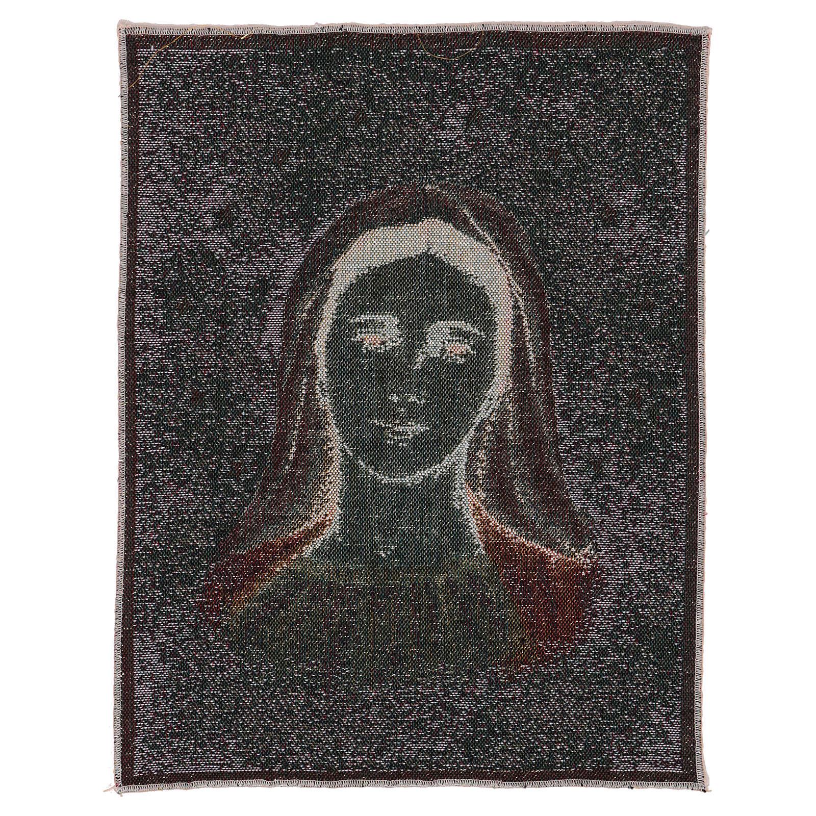 Tapeçaria Nossa Senhora de Medjugorje com estrelas 39x30 cm 3