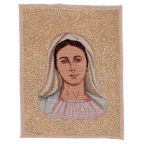 Tapeçaria Nossa Senhora de Medjugorje com estrelas 39x30 cm s1