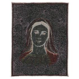 Tapeçaria Nossa Senhora de Medjugorje com estrelas 39x30 cm s3