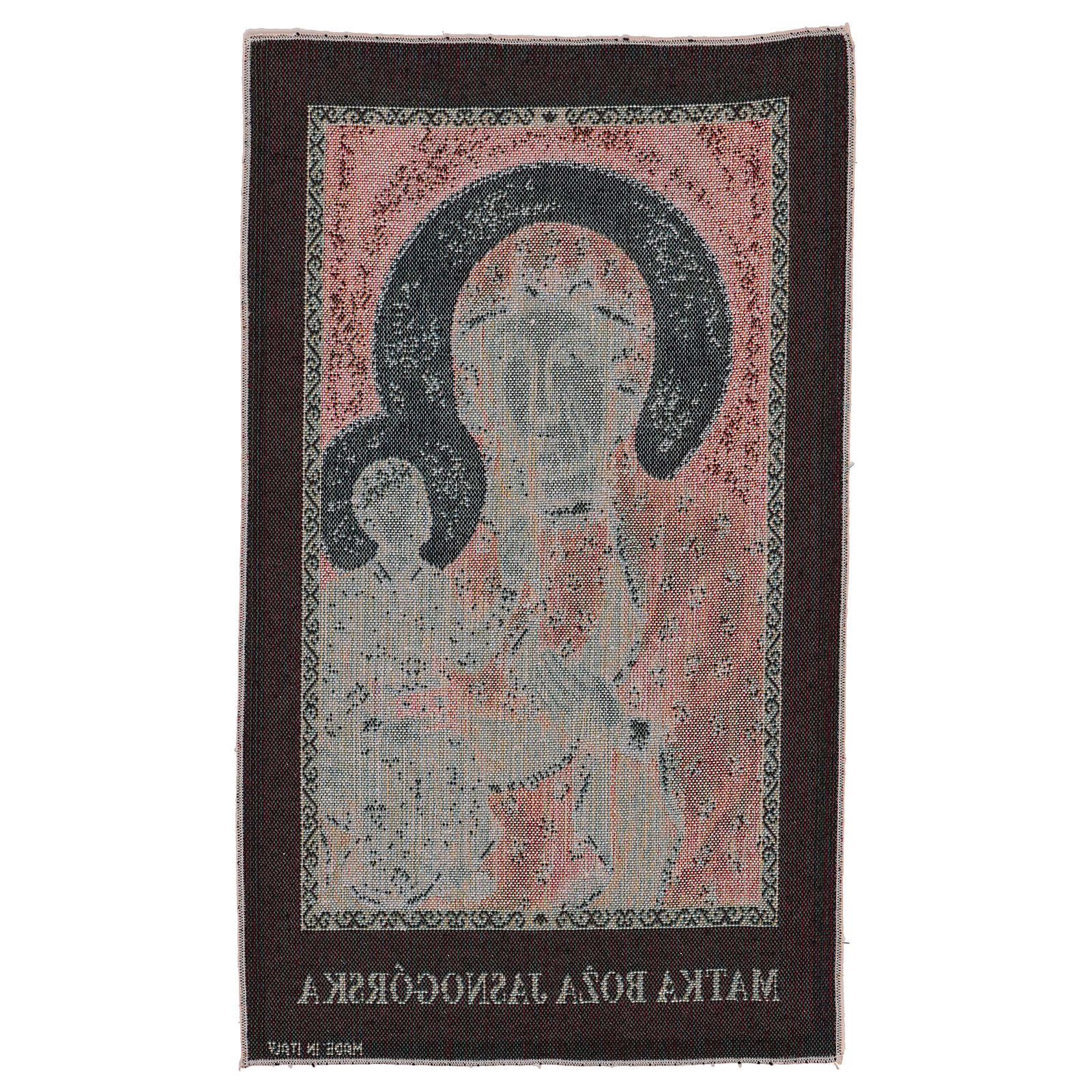 Arazzo Madonna Nera di Czestochowa 50x30 cm 3