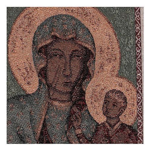 Arazzo Madonna Nera di Czestochowa 50x30 cm 2