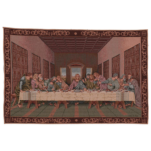 The Last Dinner tapestry with frame 40x60 cm 1