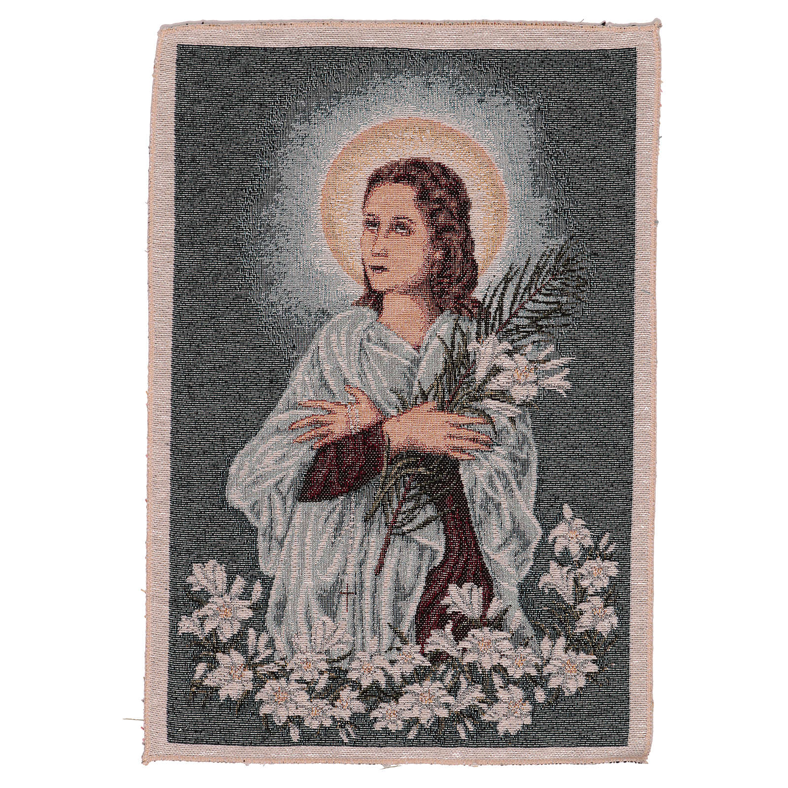 Saint Maria Goretti tapestry 40x30 cm 3