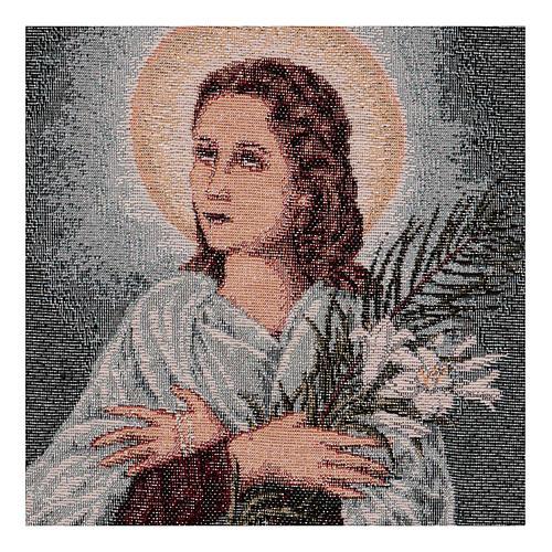 Saint Maria Goretti tapestry 40x30 cm 2