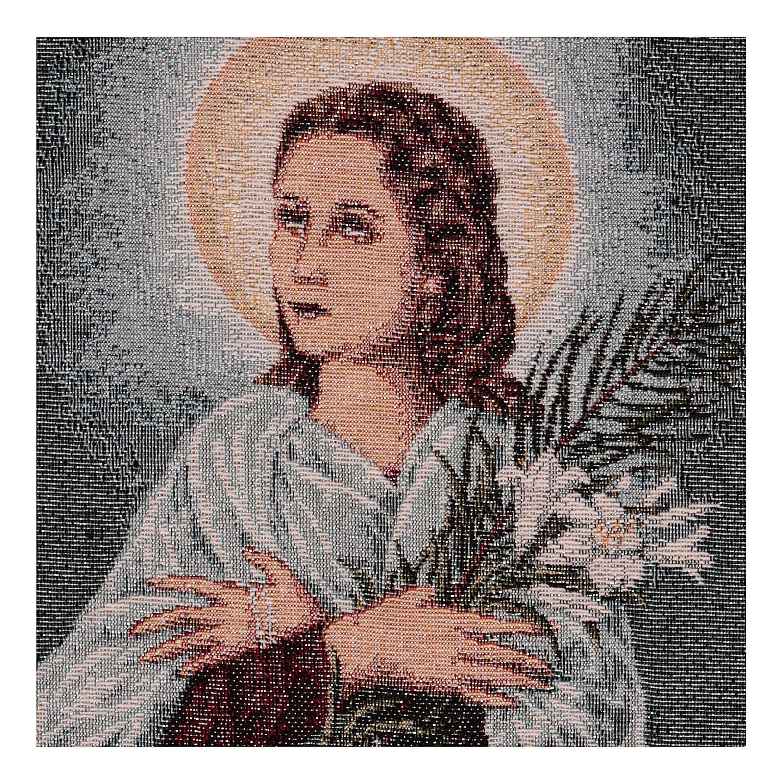 Tapiz Santa María Goretti 40x30 cm 3