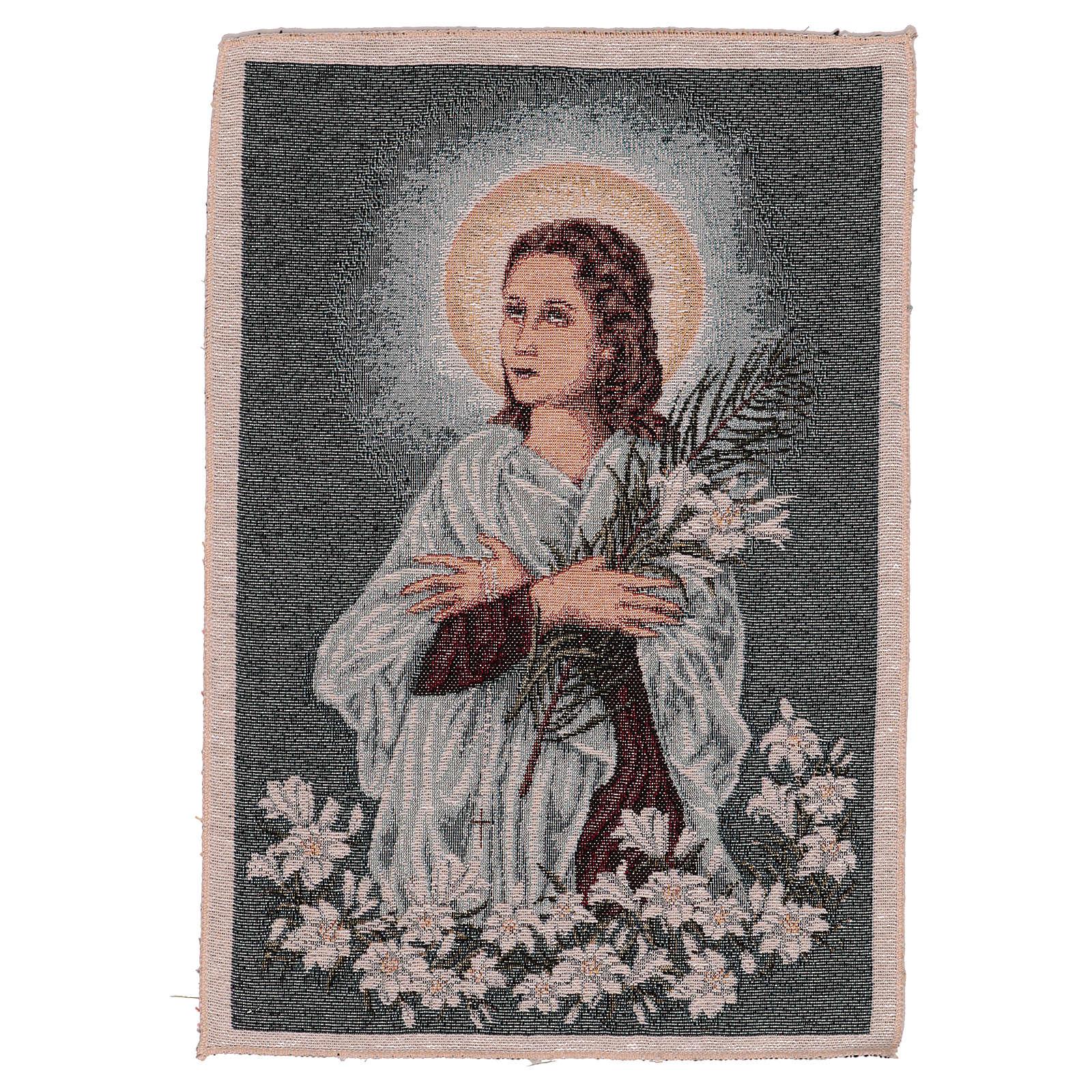 Arazzo Santa Maria Goretti 40x30 cm 3