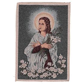 Arazzo Santa Maria Goretti 40x30 cm s1