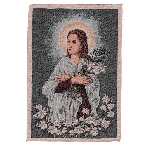 Arazzo Santa Maria Goretti 40x30 cm 1