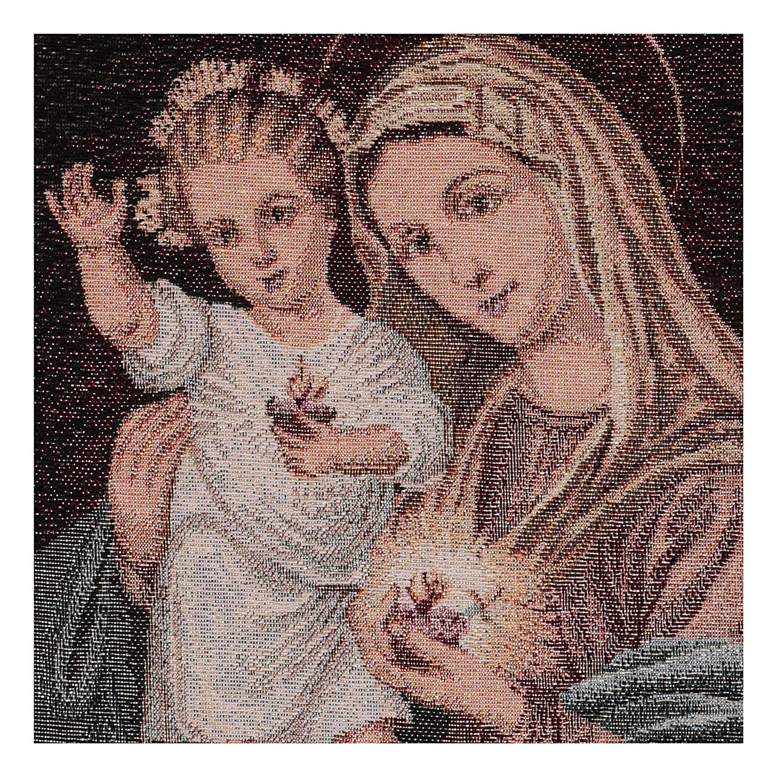 Arazzo Sacri Cuori Maria e Gesù 40x30 cm 3