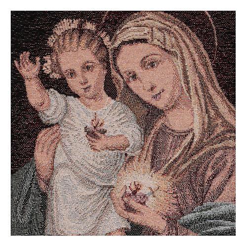 Arazzo Sacri Cuori Maria e Gesù 40x30 cm 2