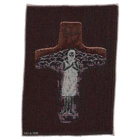 Tapisserie Croix Pape François couleurs 40x30 cm s3