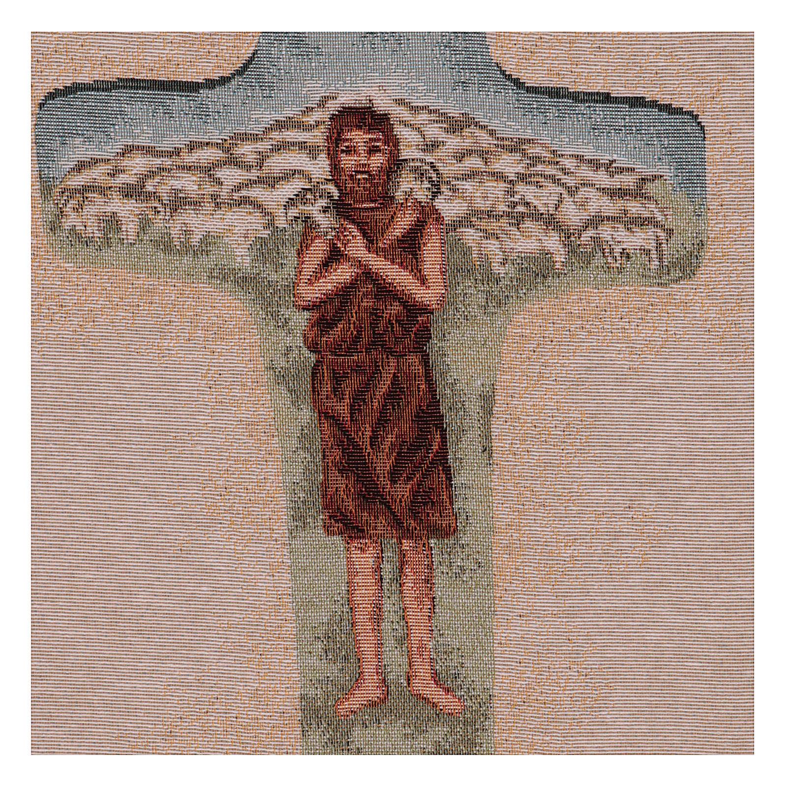 Arazzo Croce Papa Francesco colori 40x30 cm 3