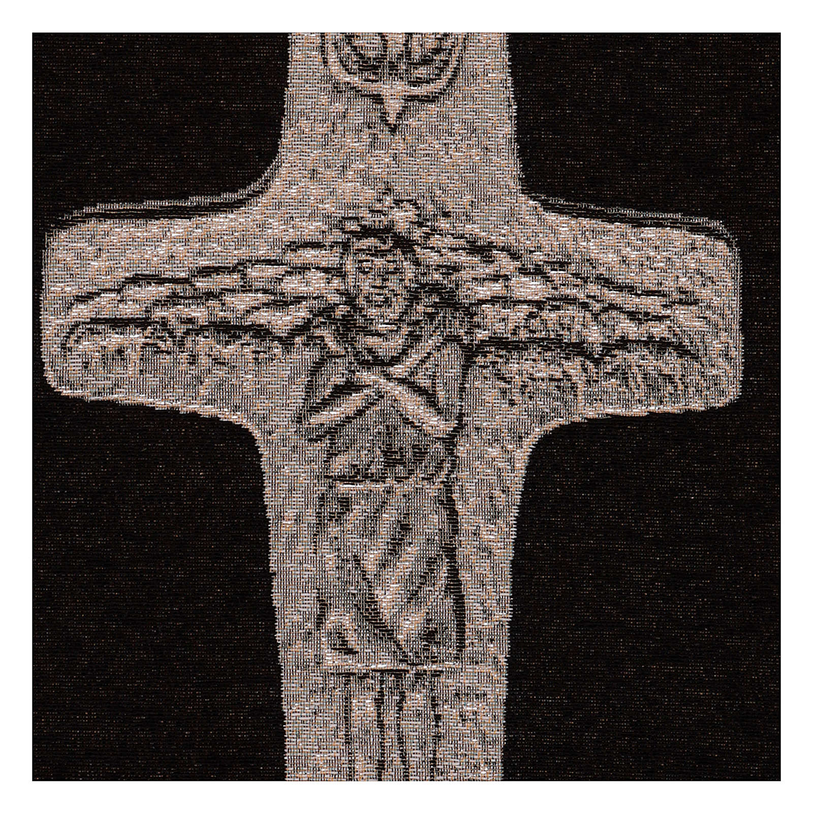 Arazzo Croce Papa Francesco argento 40x30 cm 3