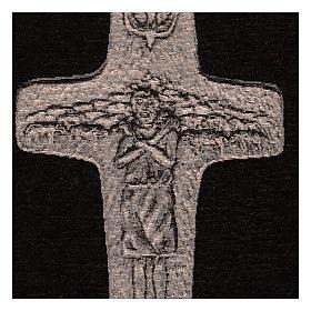 Arazzo Croce Papa Francesco argento 40x30 cm s2