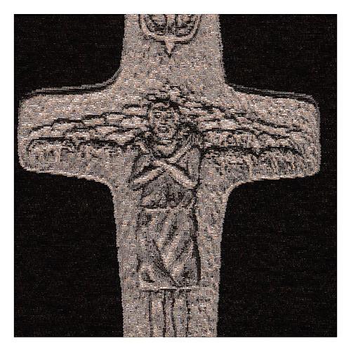 Arazzo Croce Papa Francesco argento 40x30 cm 2