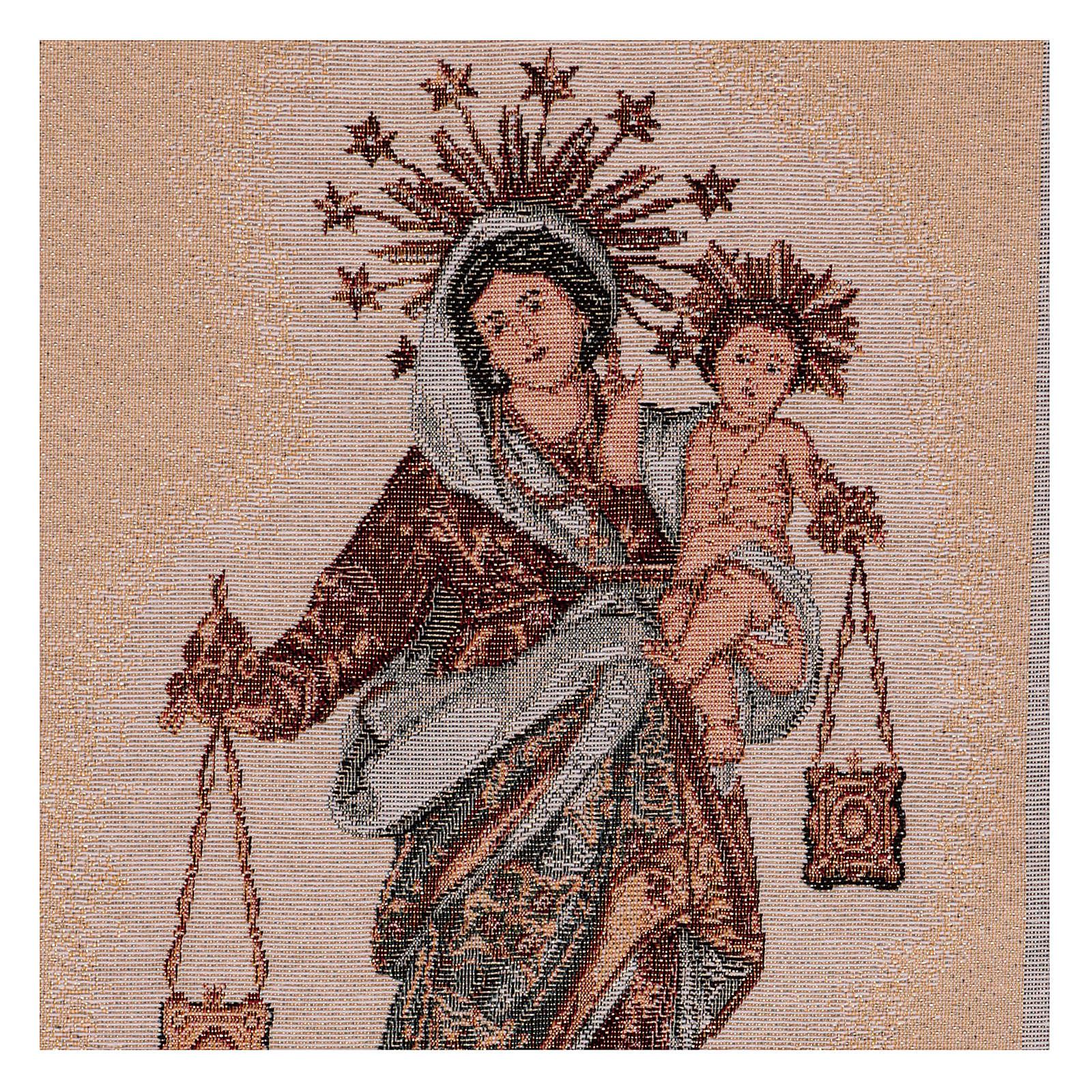Arazzo Madonna del Carmelo 50x30 cm 3