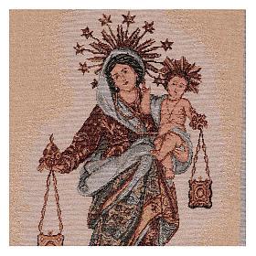 Arazzo Madonna del Carmelo 50x30 cm s2