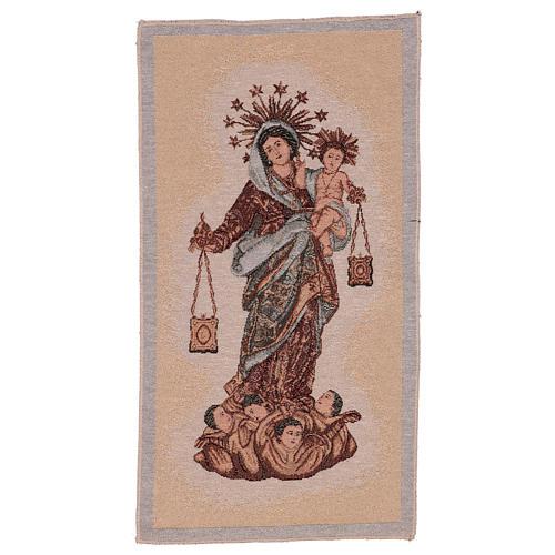 Arazzo Madonna del Carmelo 50x30 cm 1
