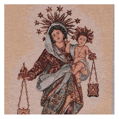 Arazzo Madonna del Carmelo 50x30 cm 2
