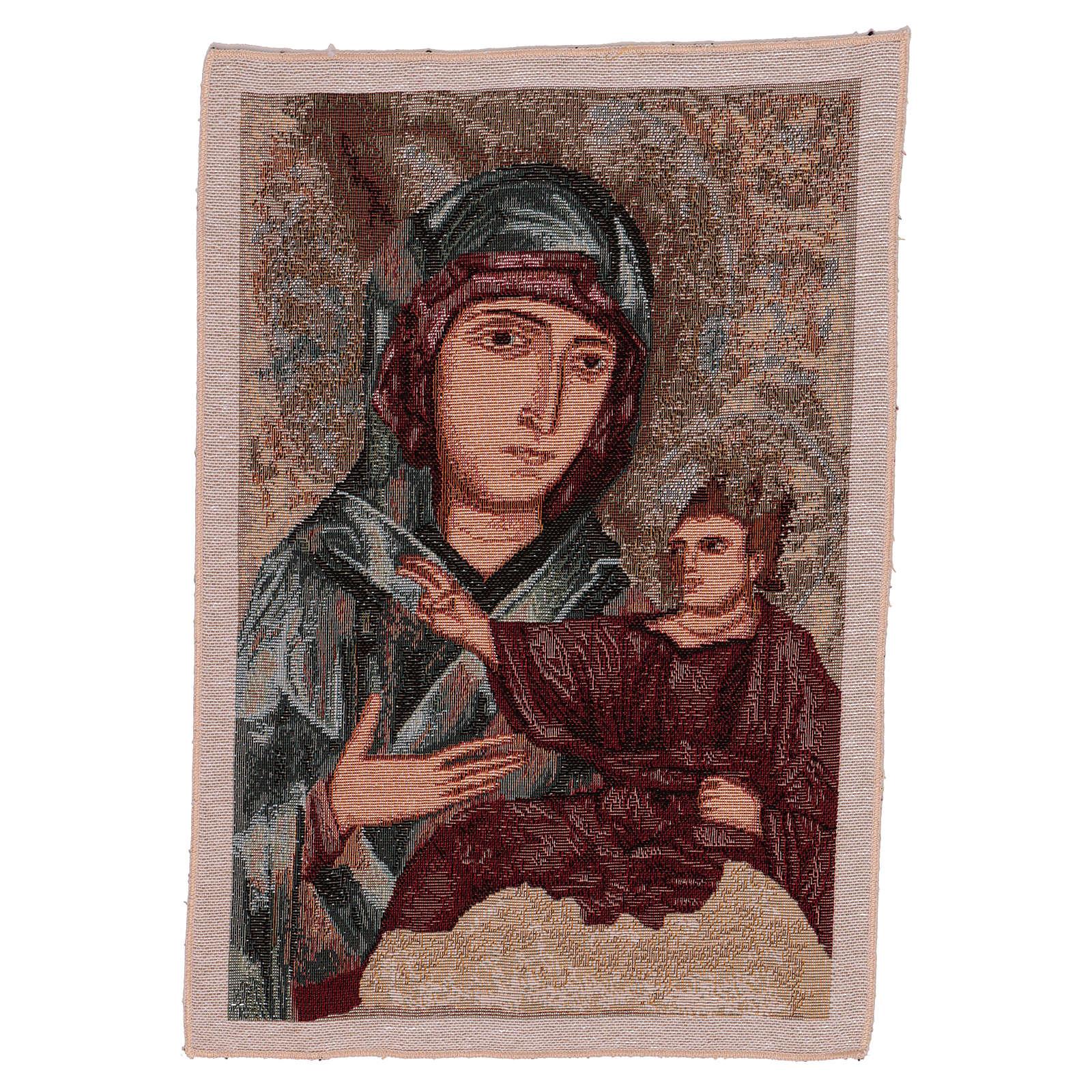 Wandteppich Allerseligste Jungfrau vom heiligen Lukas 40x30 cm 3