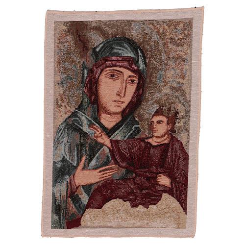 Wandteppich Allerseligste Jungfrau vom heiligen Lukas 40x30 cm 1