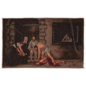 Wandteppich Enthauptung Johannes des Täufers 30x55 cm s1