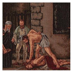 Wandteppich Enthauptung Johannes des Täufers 30x55 cm s2