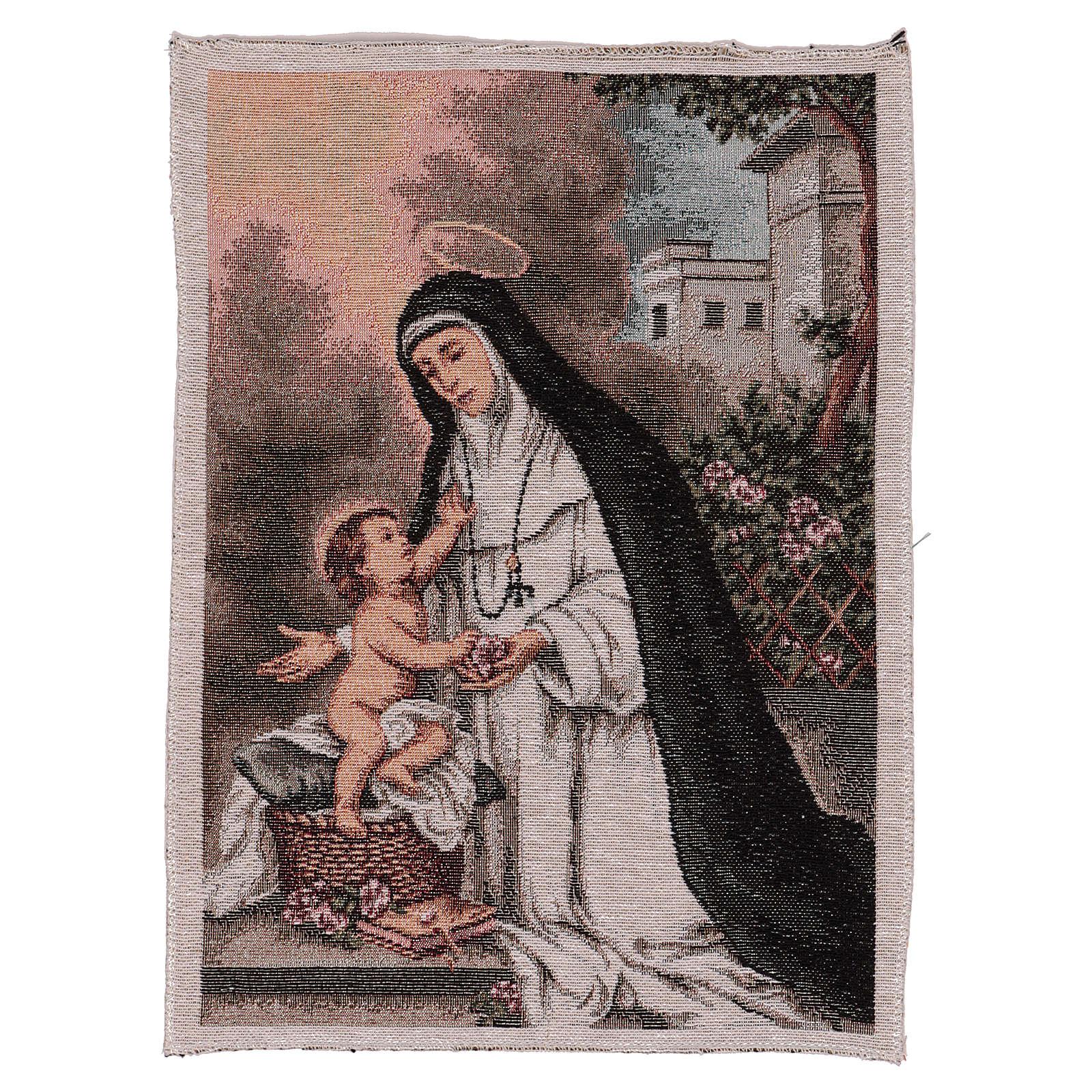 Saint Rose of Lima tapestry 40x30 cm 3