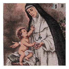 Saint Rose of Lima tapestry 40x30 cm s2