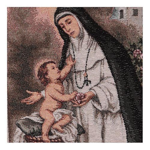 Saint Rose of Lima tapestry 40x30 cm 2