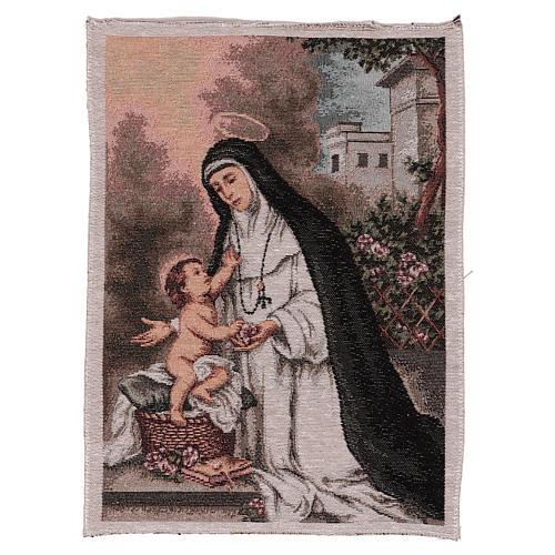 Arazzo S. Rosa da Lima 40x30 cm 1