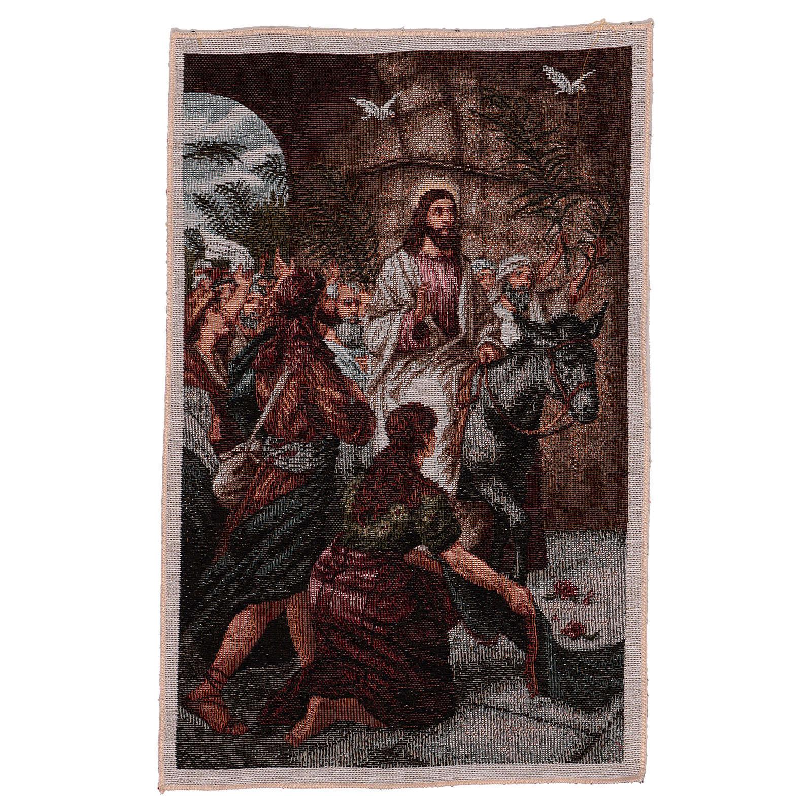 Arazzo Entrata in Gerusalemme 30x44 cm 3