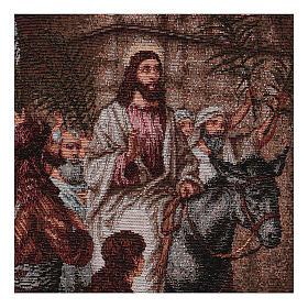 Arazzo Entrata in Gerusalemme 30x44 cm s2