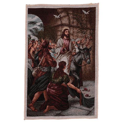 Arazzo Entrata in Gerusalemme 30x44 cm 1