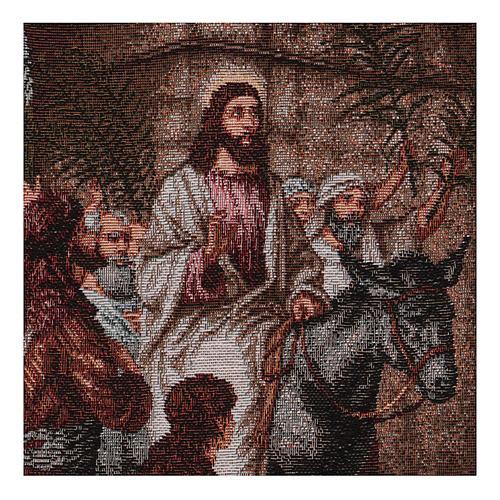 Arazzo Entrata in Gerusalemme 30x44 cm 2