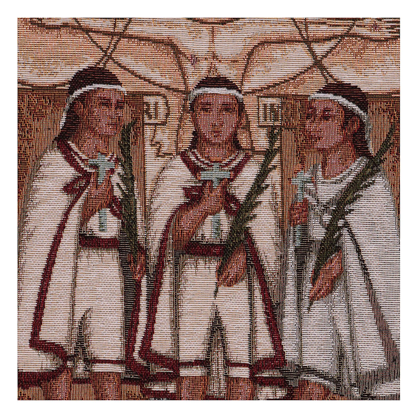 Wandteppich Die Märtyrerkinder von Tlaxcala 40x30 cm 3