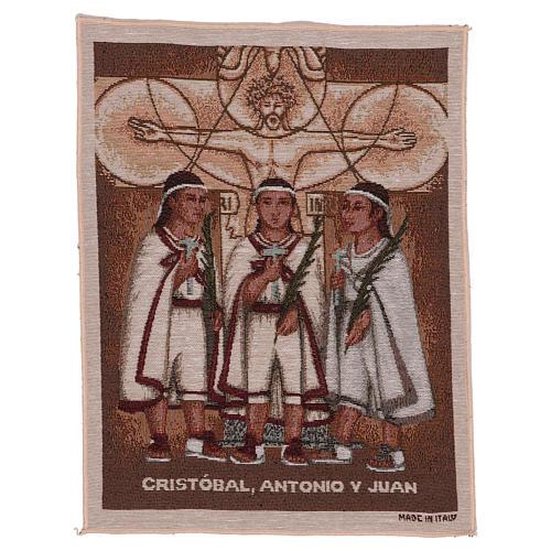 Wandteppich Die Märtyrerkinder von Tlaxcala 40x30 cm 1