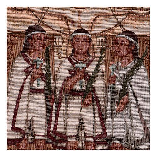 Wandteppich Die Märtyrerkinder von Tlaxcala 40x30 cm 2