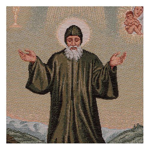 Gobelin Święty Charbel 40x30 cm 2