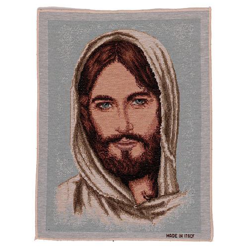 Wandteppich Antlitz Christi mit bedecktem Haupt 40x30 cm 1