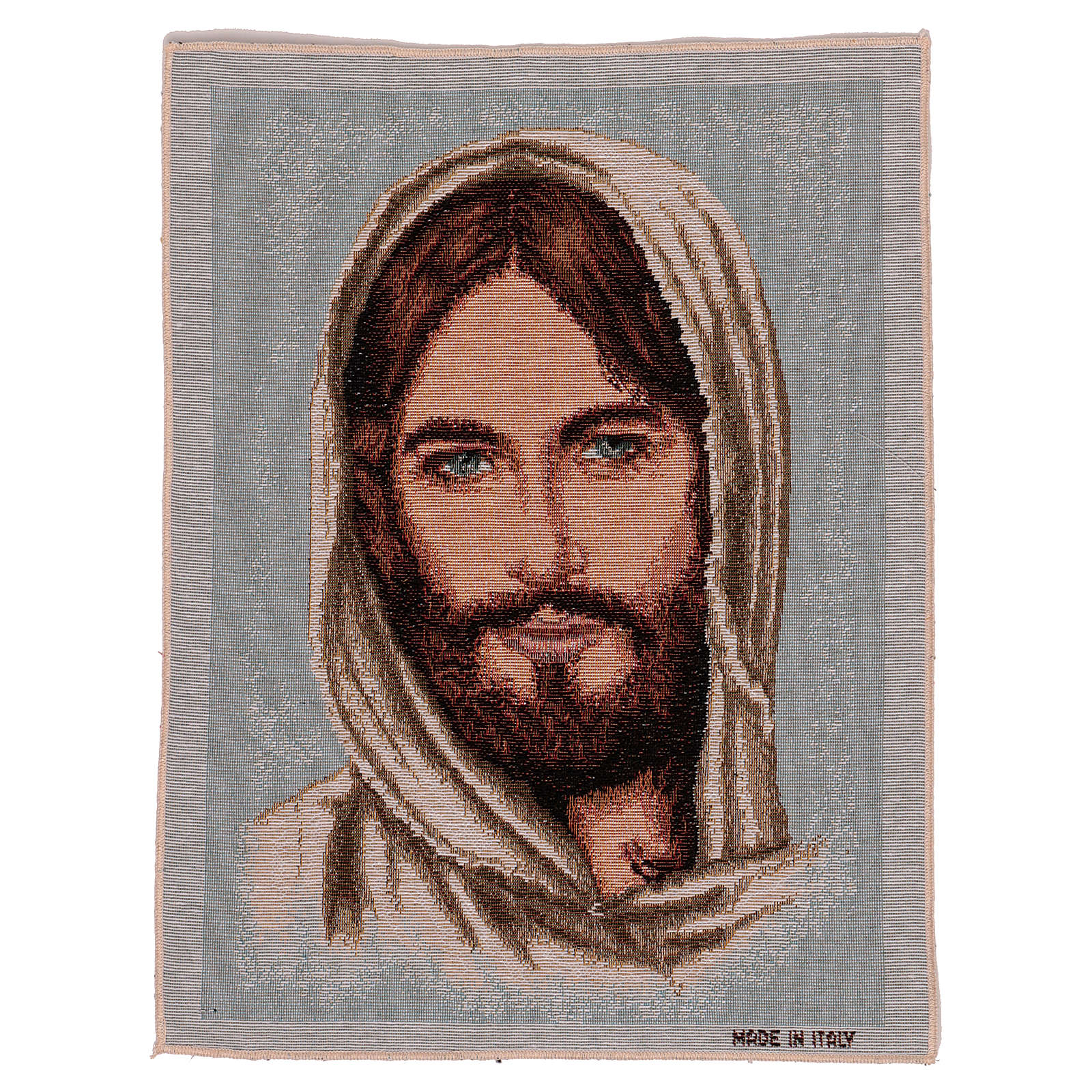Jesus Christ's face with hood tapestry 40x30 cm 3
