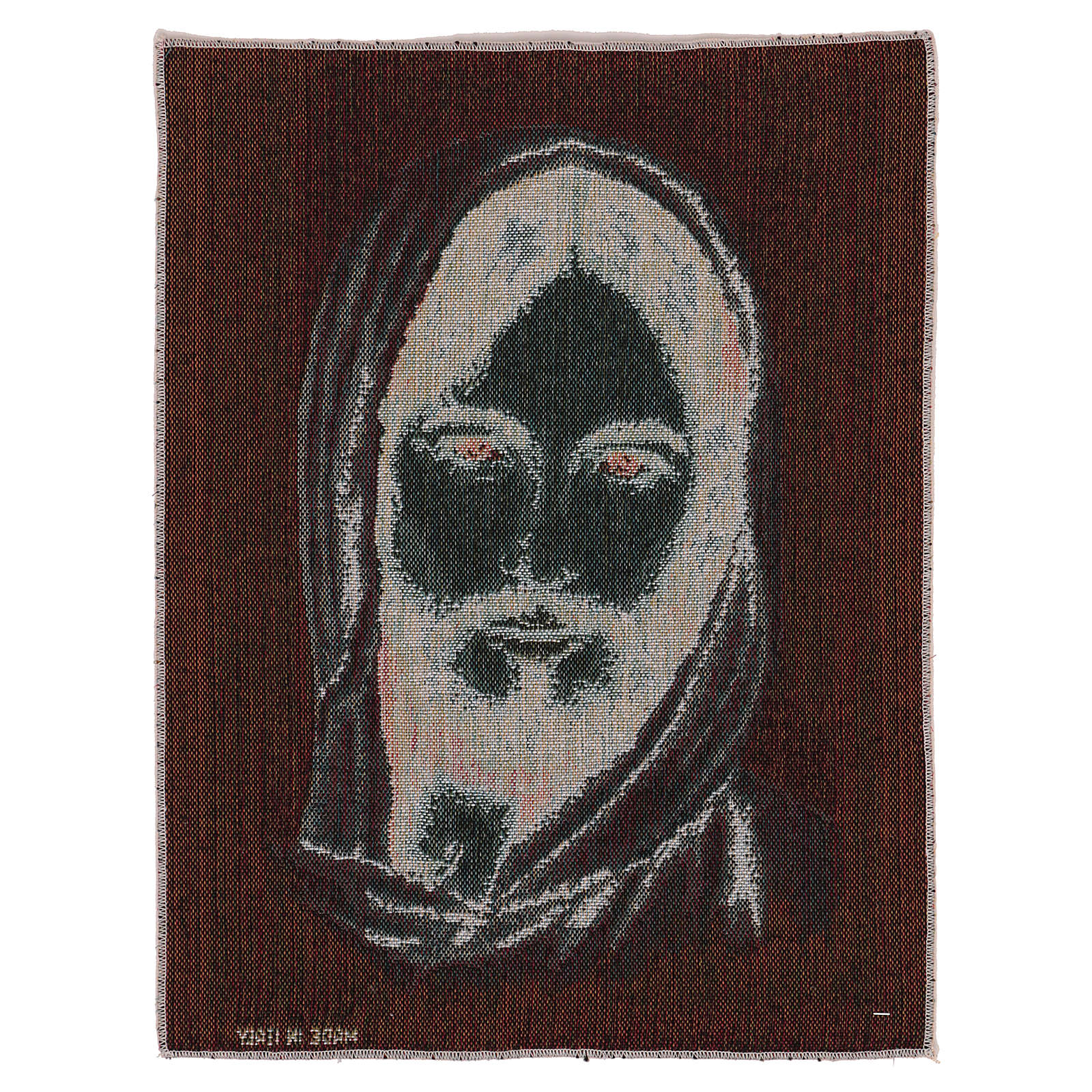 Tapiz Rostro Cristo con Capucha 40x30 cm 3