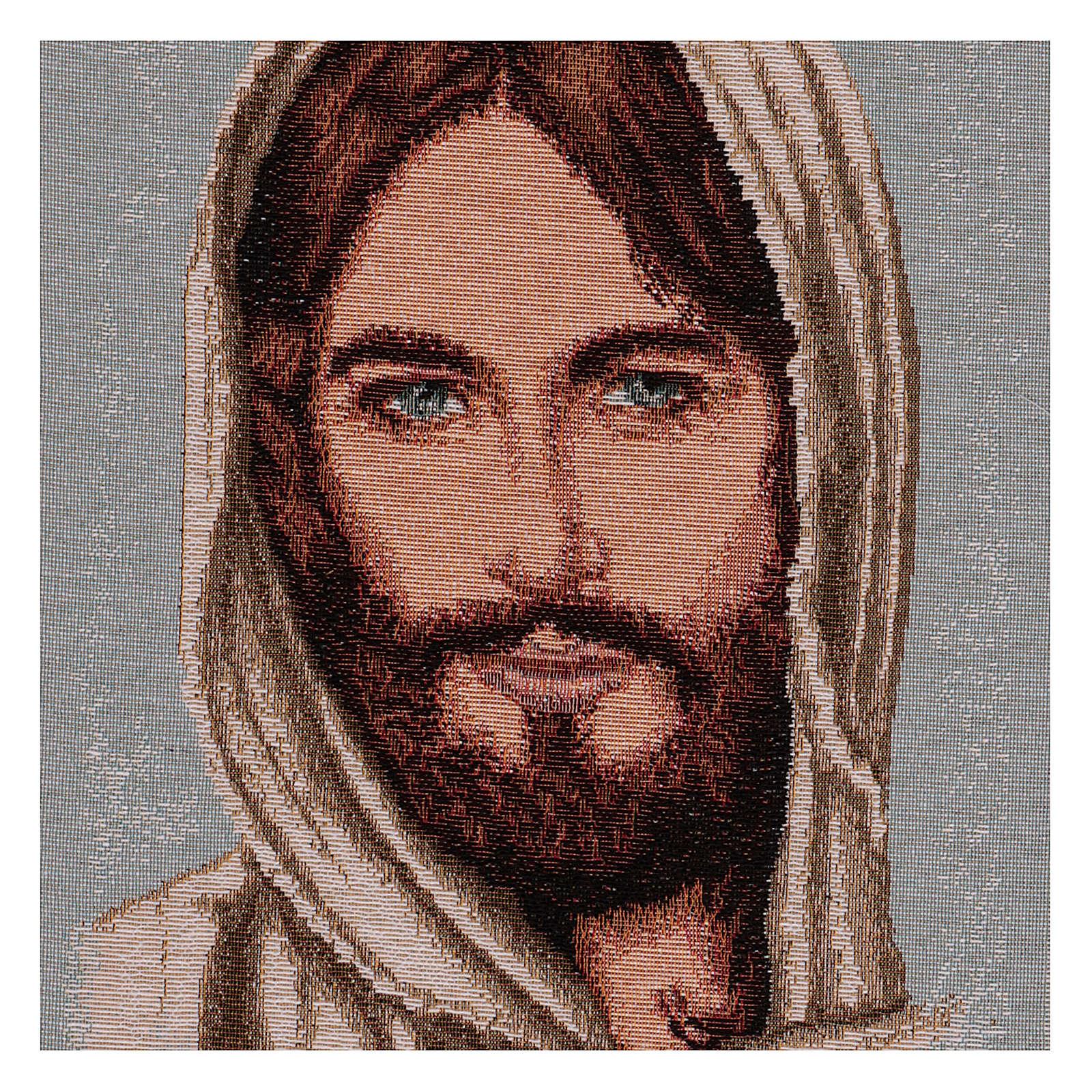 Tapisserie Visage de Christ avec voile 40x30 cm 3