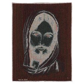 Arazzo Volto Cristo con Cappuccio 40x30 cm s3