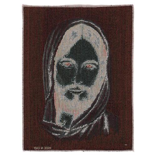 Arazzo Volto Cristo con Cappuccio 40x30 cm 3